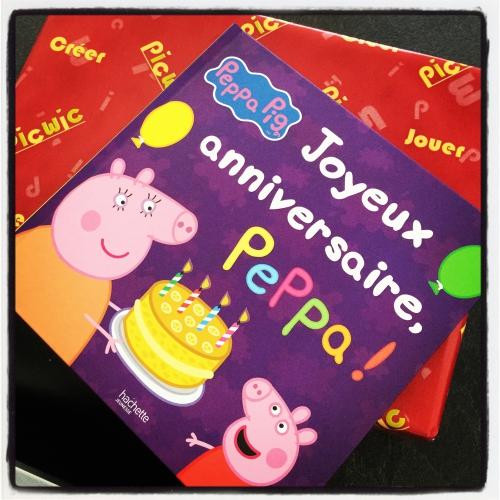 peppa pig, joyeux, anniversaire, hachette jeunesse