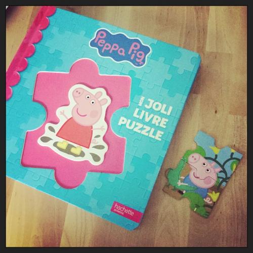 peppa pig, joli, livre, puzzle, hachette jeunesse